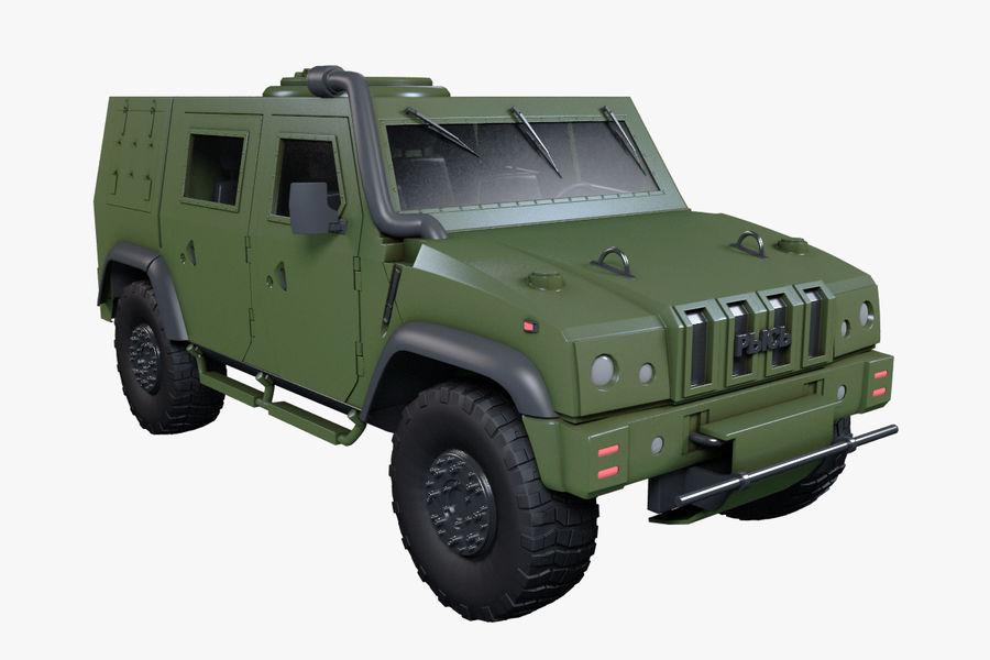 Iveco LMV royalty-free 3d model - Preview no. 4