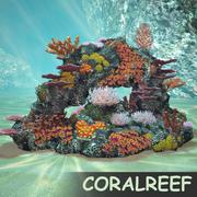 коралловый риф 3d model