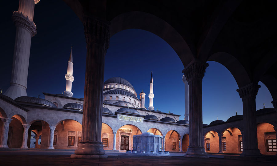 Mosque royalty-free 3d model - Preview no. 6