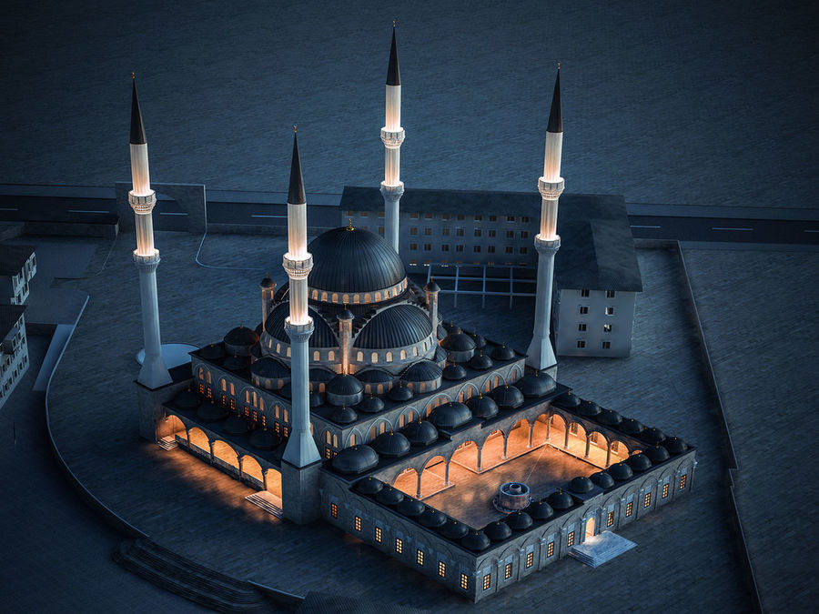 Mosque royalty-free 3d model - Preview no. 1