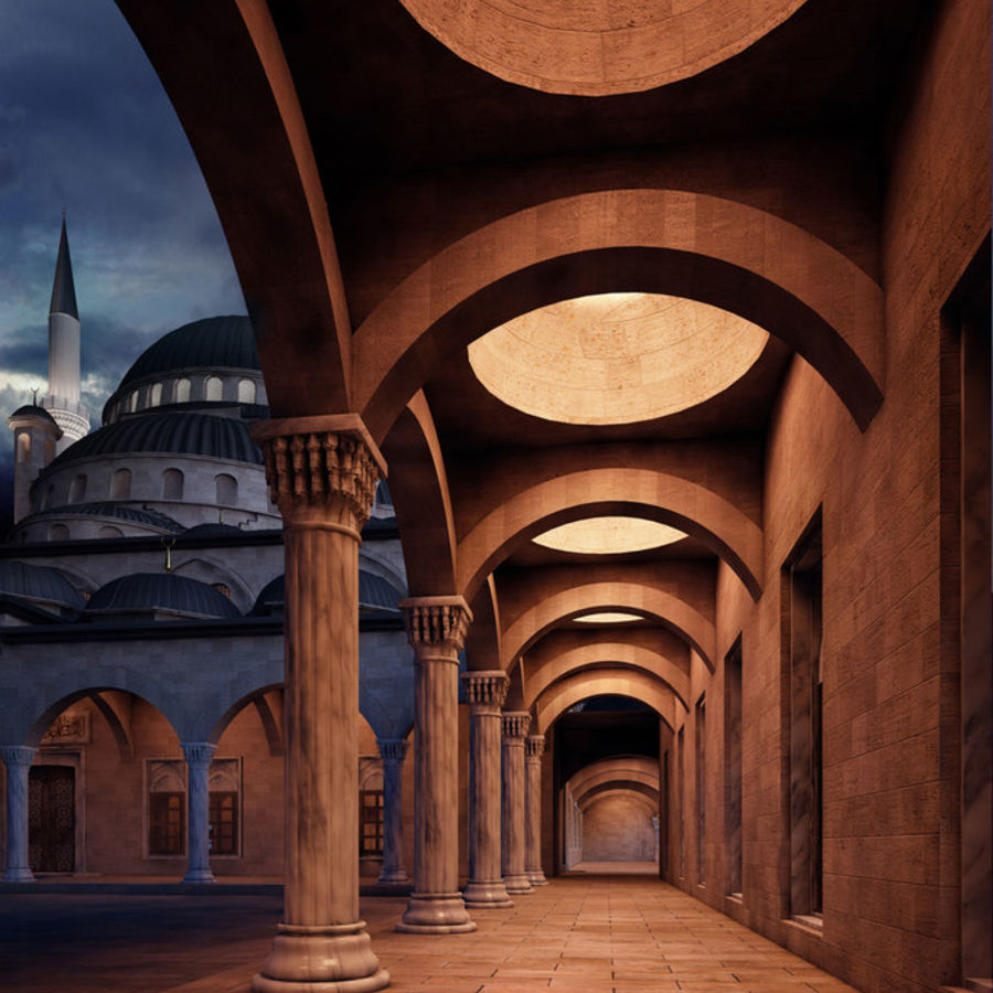 Mosque royalty-free 3d model - Preview no. 4