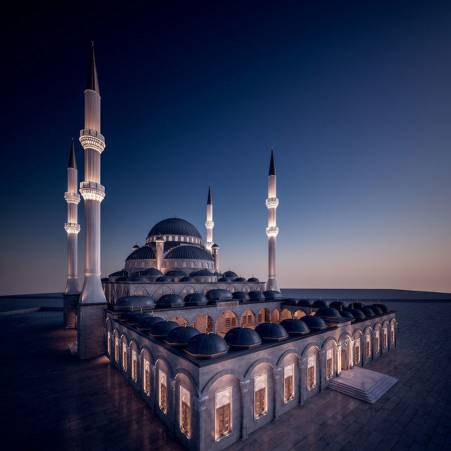 Mosque royalty-free 3d model - Preview no. 9