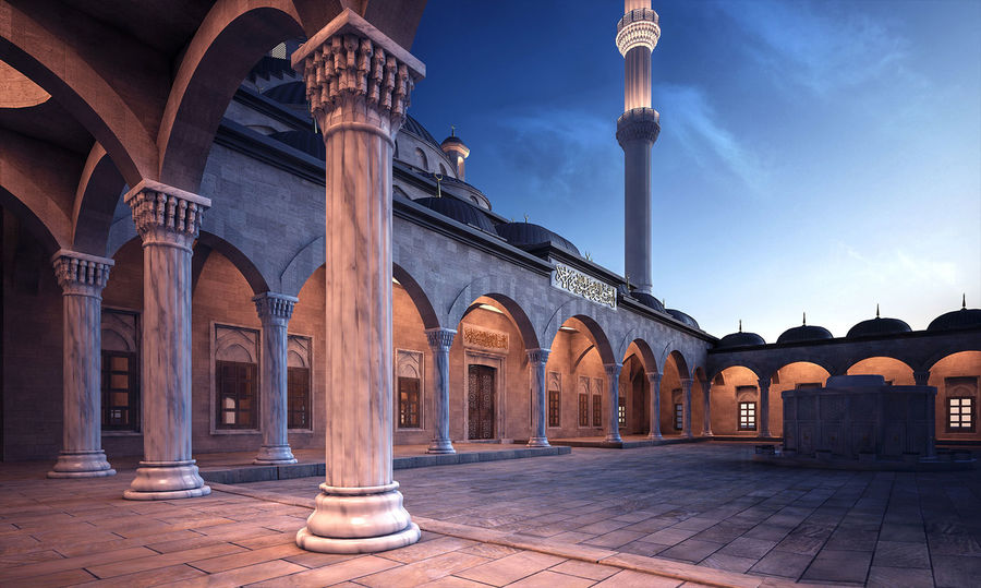 Mosque royalty-free 3d model - Preview no. 5