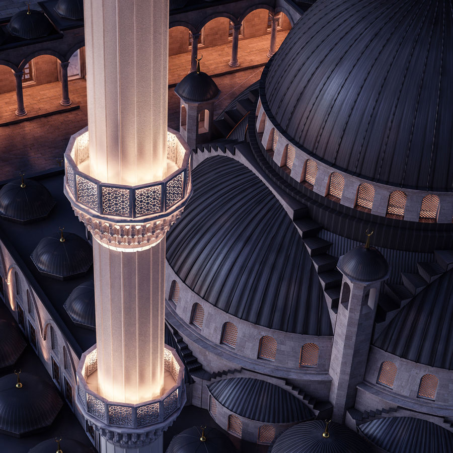 Mosque royalty-free 3d model - Preview no. 8