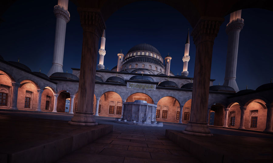 Mosque royalty-free 3d model - Preview no. 2