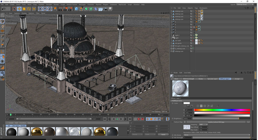 Mosque royalty-free 3d model - Preview no. 10