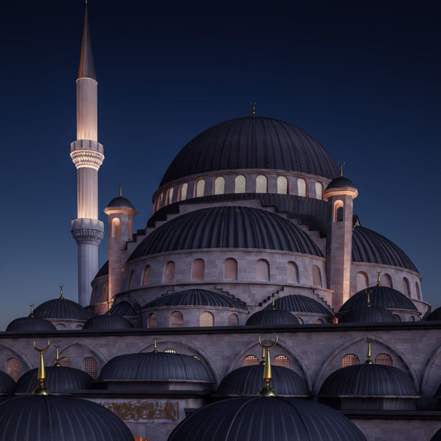 Mosque royalty-free 3d model - Preview no. 7