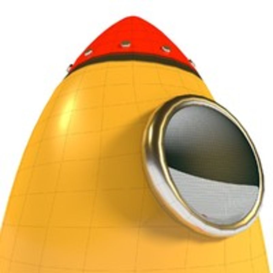 Rocket comic royalty-free 3d model - Preview no. 11