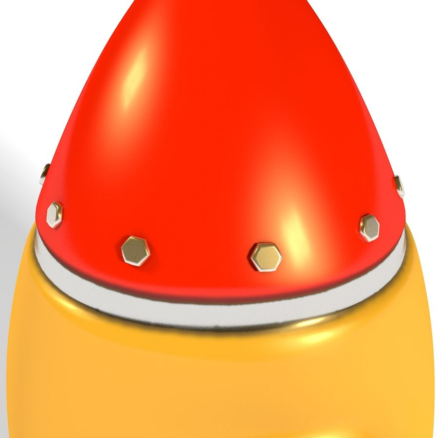 Rocket comic royalty-free 3d model - Preview no. 5
