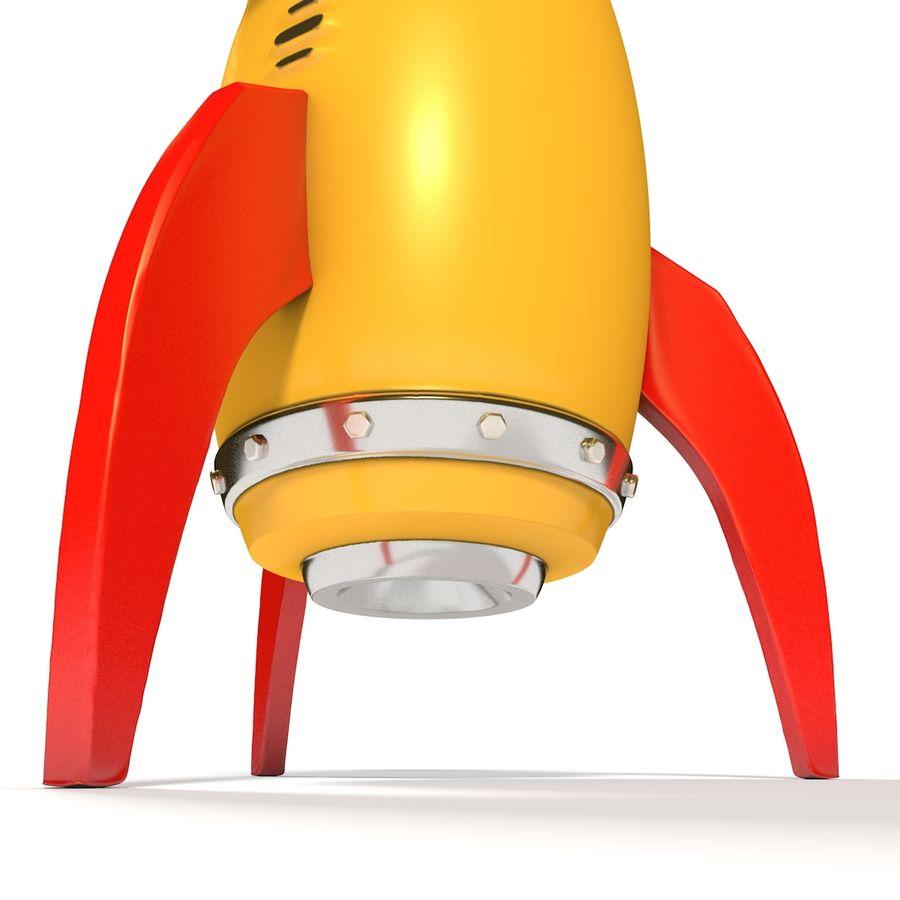 Rocket comic royalty-free 3d model - Preview no. 3