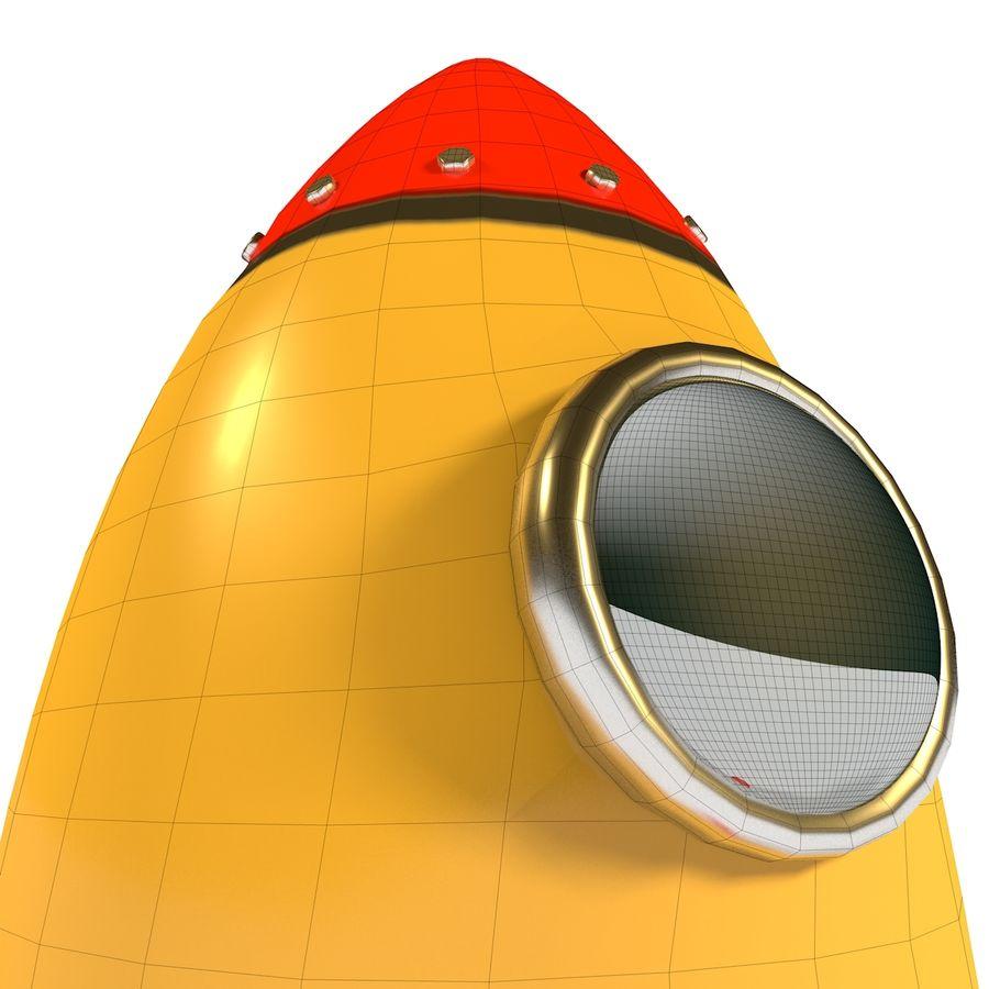 Rocket comic royalty-free 3d model - Preview no. 11