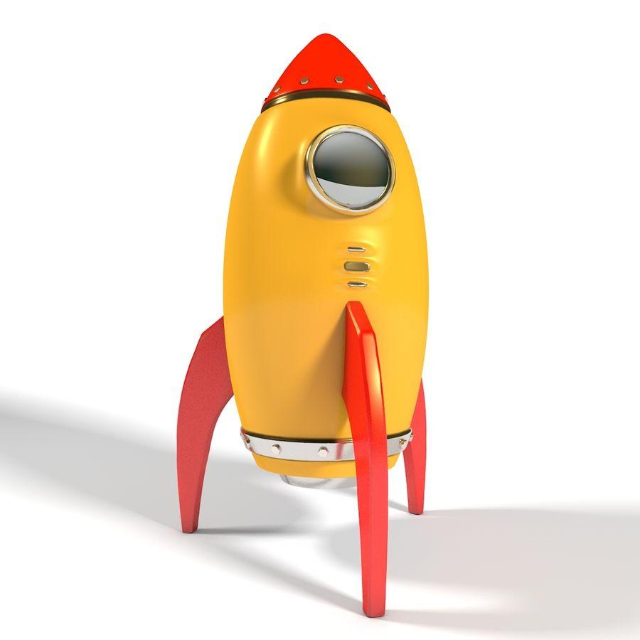 Rocket comic royalty-free 3d model - Preview no. 4