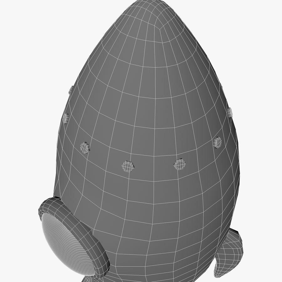 Rocket comic royalty-free 3d model - Preview no. 15
