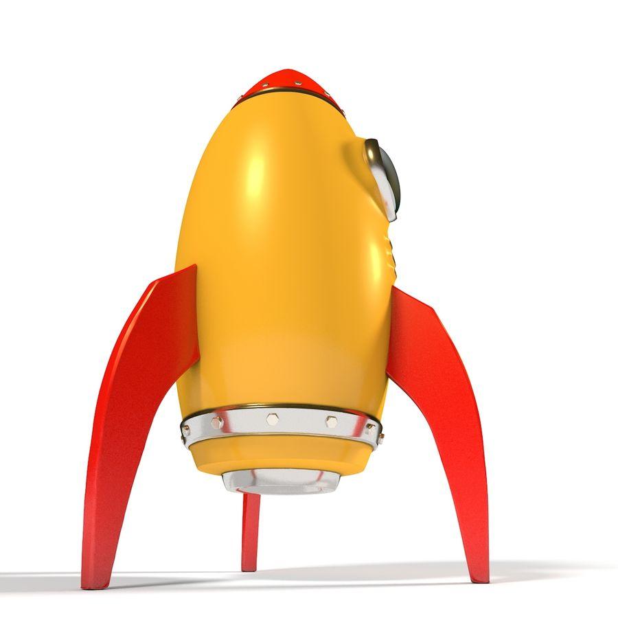 Rocket comic royalty-free 3d model - Preview no. 6
