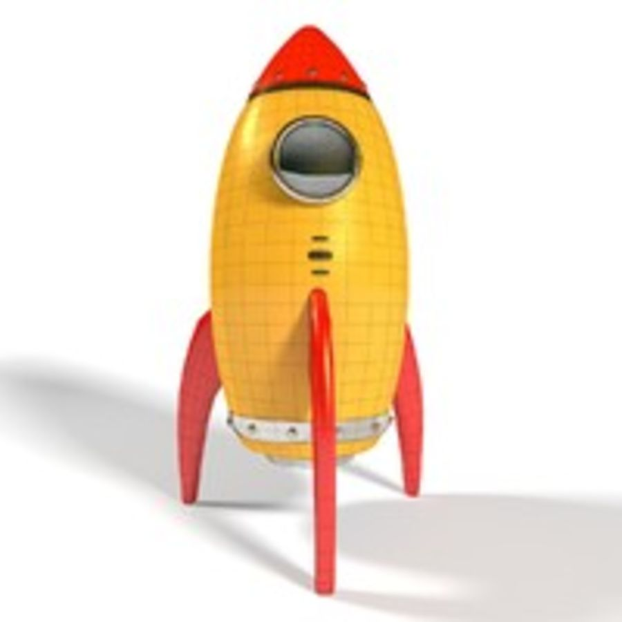 Rocket comic royalty-free 3d model - Preview no. 10