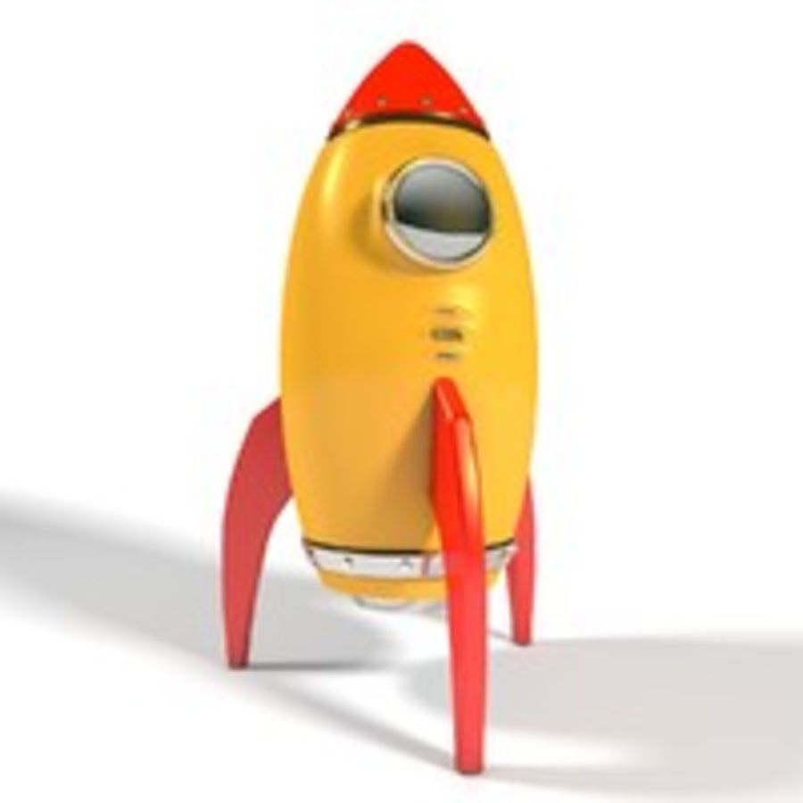 Rocket comic royalty-free 3d model - Preview no. 4