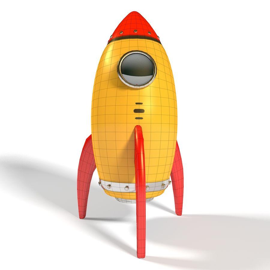 Rocket comic royalty-free 3d model - Preview no. 10