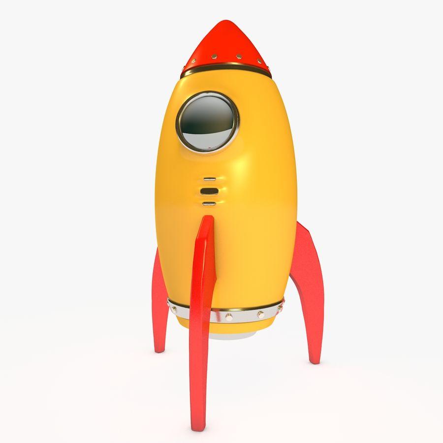 Rocket comic royalty-free 3d model - Preview no. 1