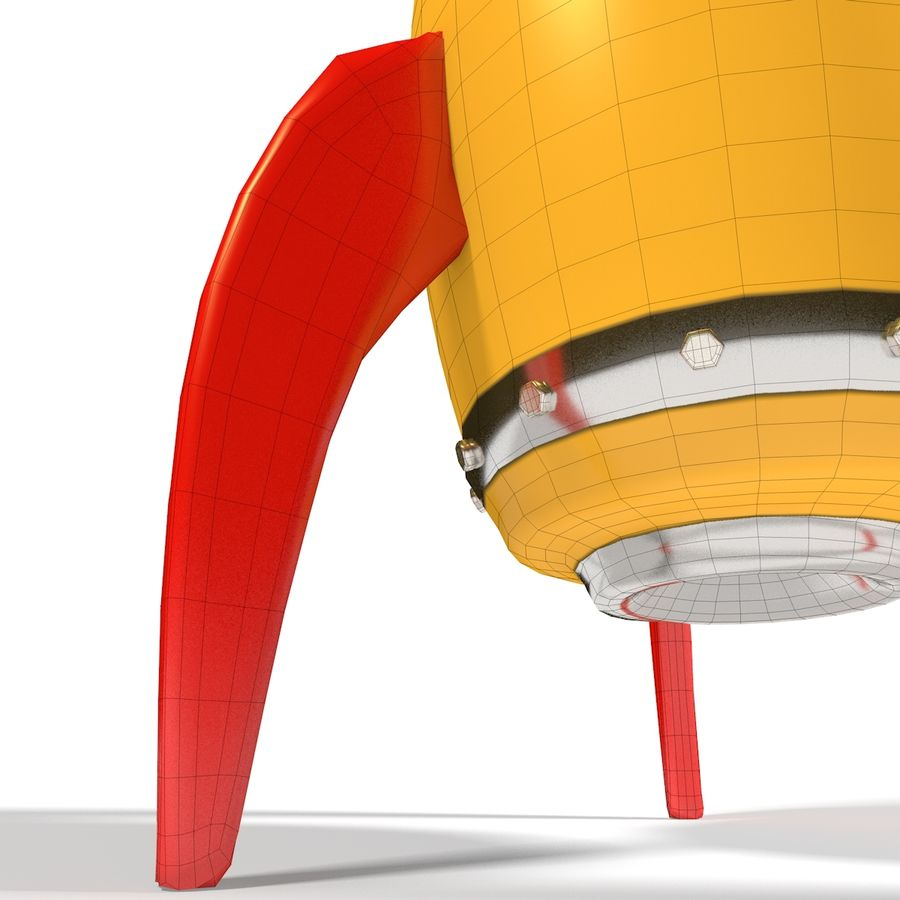 Rocket comic royalty-free 3d model - Preview no. 13