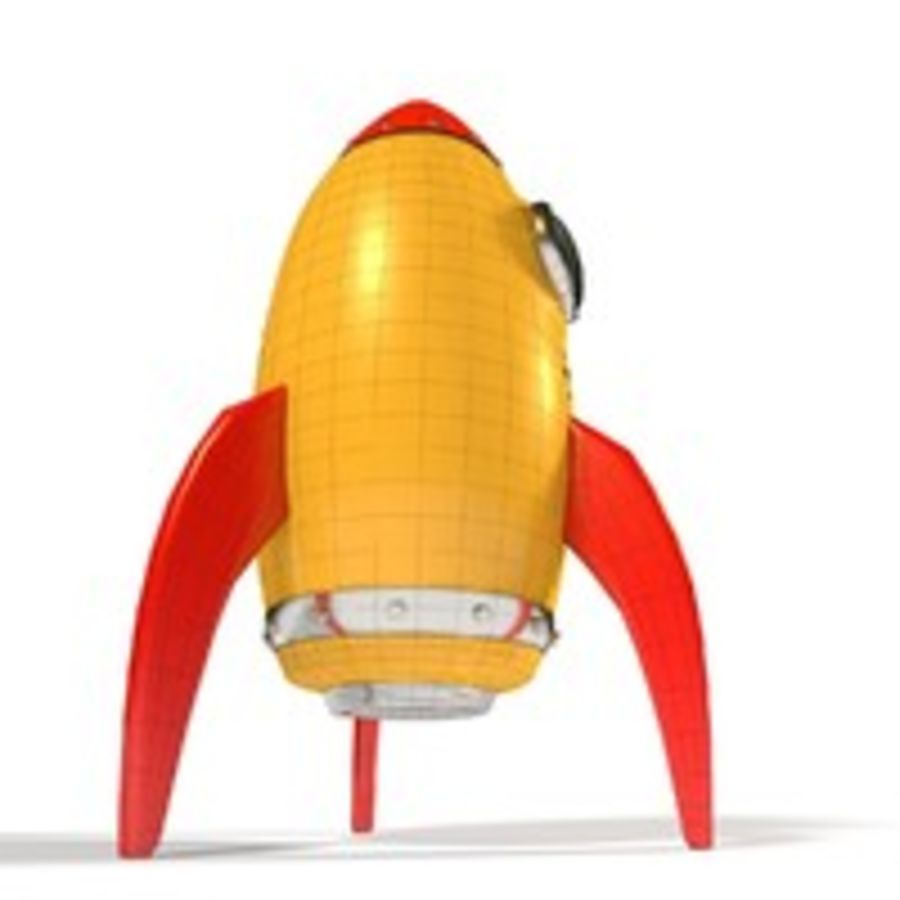 Rocket comic royalty-free 3d model - Preview no. 9