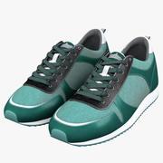Chaussures de course cyan 3d model