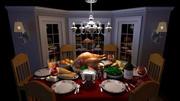 卡通餐桌 3d model