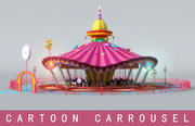 Cartoon Carrousel 3d model