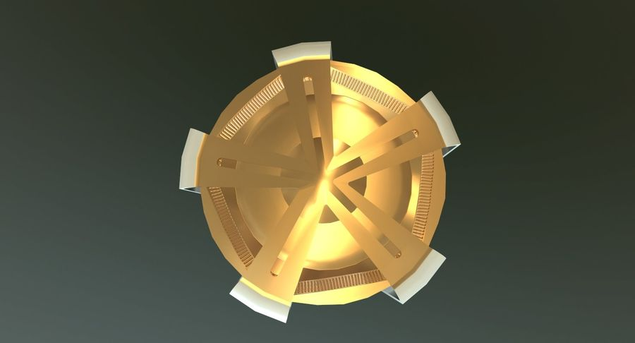 Torcia olimpica 2018 royalty-free 3d model - Preview no. 8