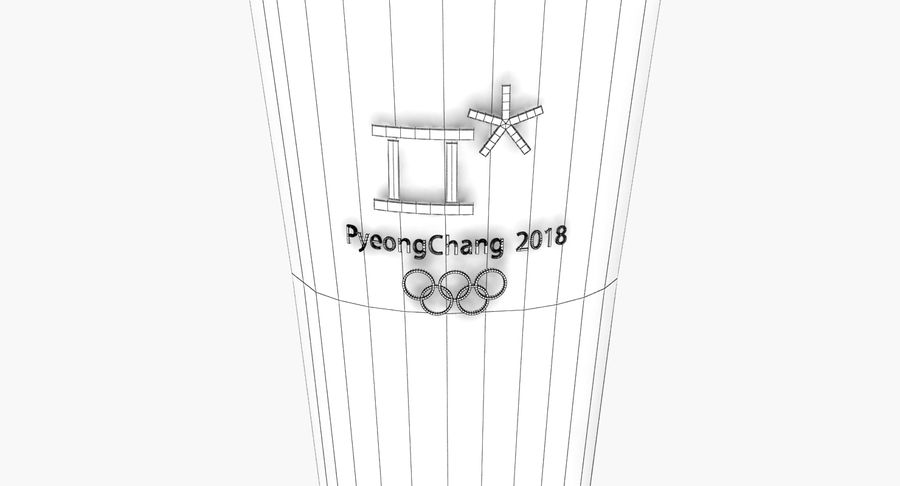Torcia olimpica 2018 royalty-free 3d model - Preview no. 14