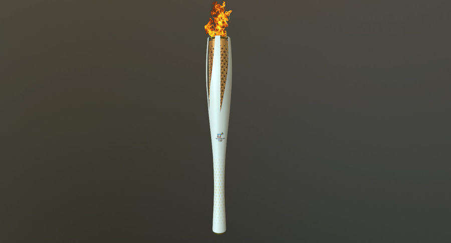 Torcia olimpica 2018 royalty-free 3d model - Preview no. 4