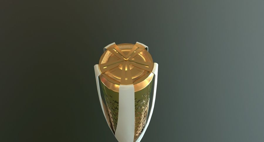 Torcia olimpica 2018 royalty-free 3d model - Preview no. 5