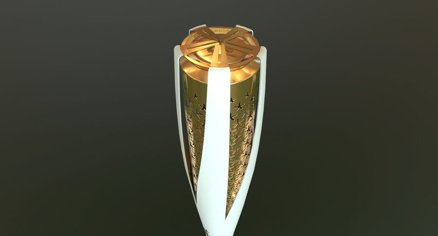Torcia olimpica 2018 royalty-free 3d model - Preview no. 11