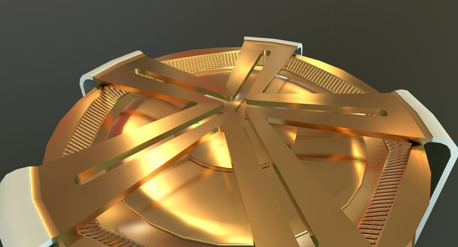 Torcia olimpica 2018 royalty-free 3d model - Preview no. 9