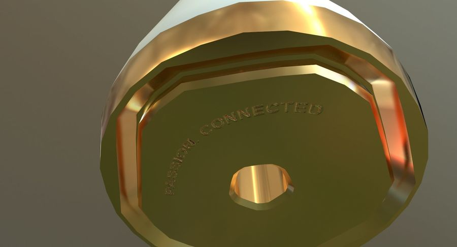 Torcia olimpica 2018 royalty-free 3d model - Preview no. 10