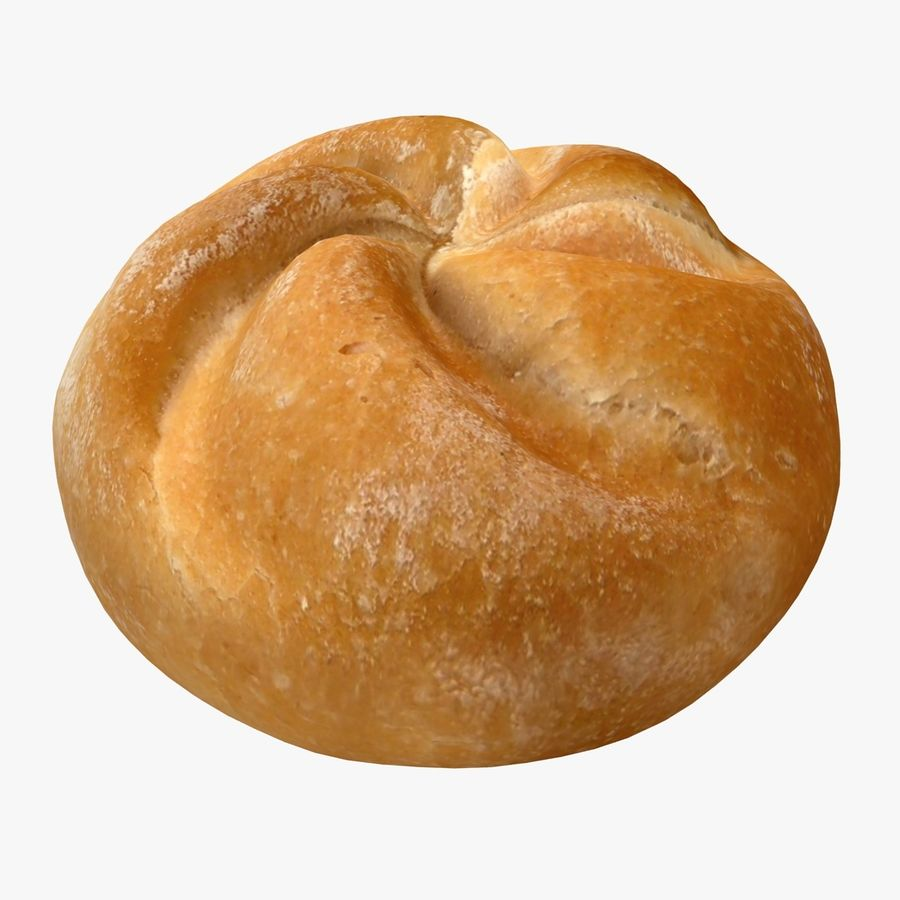 Kaiser Roll royalty-free 3d model - Preview no. 1