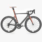 Photorealistic Giant Propel Advanced SL-2 Orange Lightweight Sprinter Bicycle 3d model