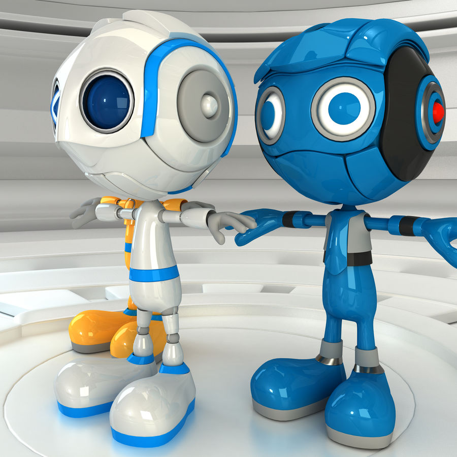Robot Set royalty-free 3d model - Preview no. 3