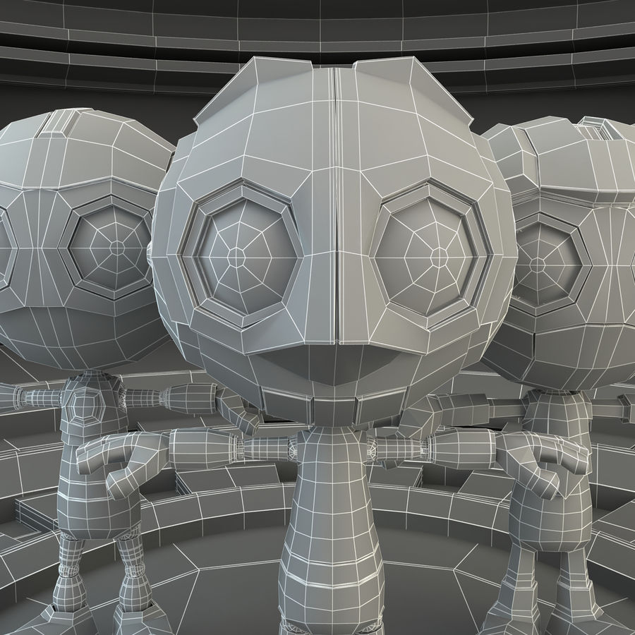 Robot Set royalty-free 3d model - Preview no. 10