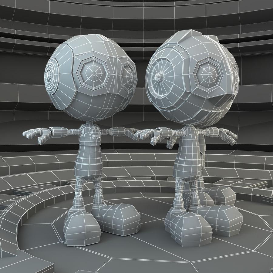 Robot Set royalty-free 3d model - Preview no. 8