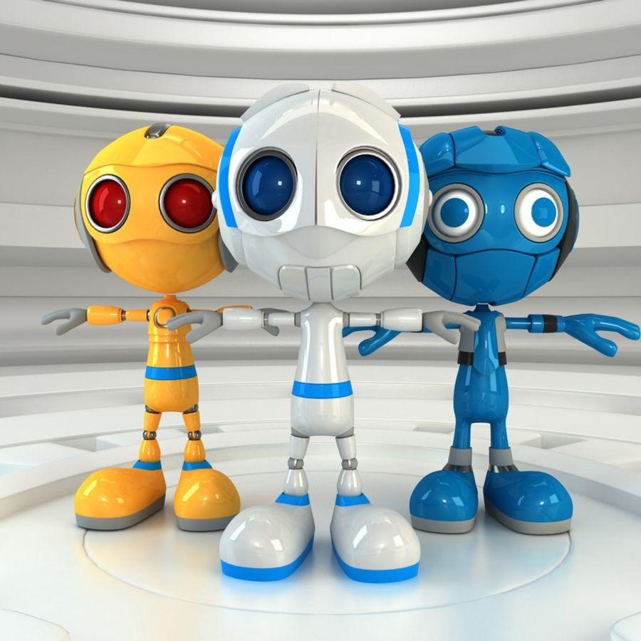Robot Set royalty-free 3d model - Preview no. 1