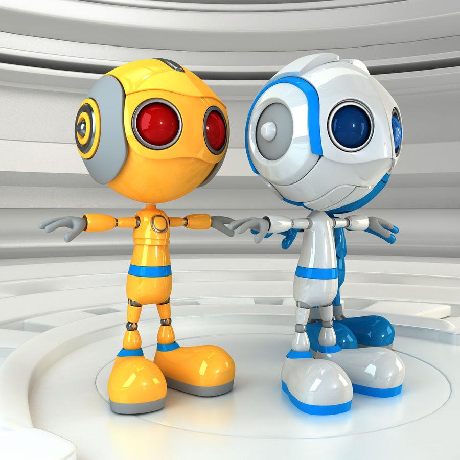 Robot Set royalty-free 3d model - Preview no. 2