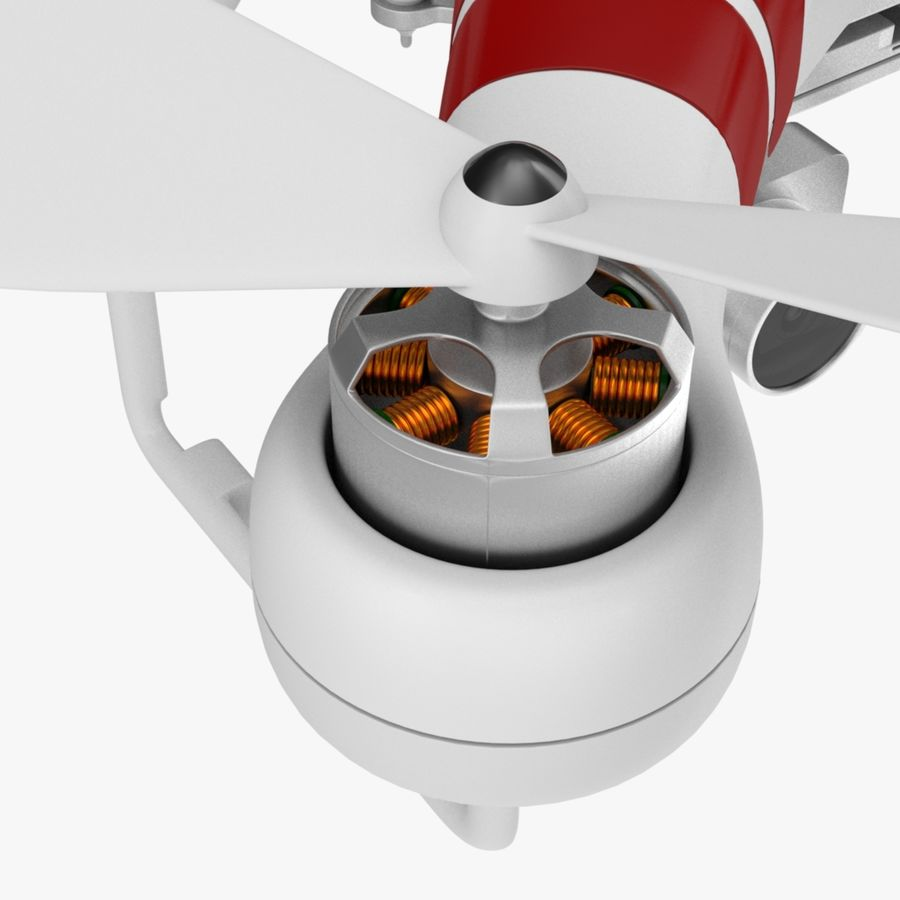 Quadcopter Drone royalty-free 3d model - Preview no. 7