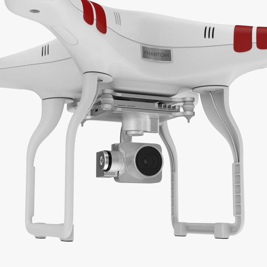 Quadcopter Drone royalty-free 3d model - Preview no. 8