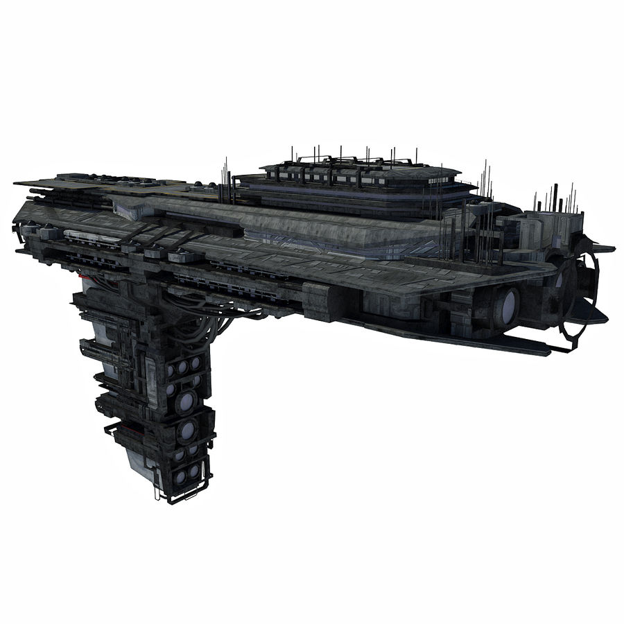 Sci Fi Spaceship Battleship Cruiser - Sci-Fi  Spacecraft 6 royalty-free 3d model - Preview no. 4