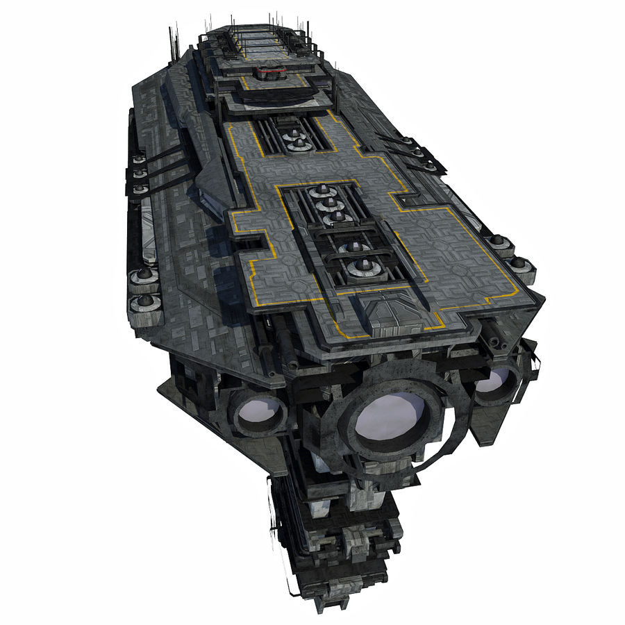 Sci Fi Spaceship Battleship Cruiser - Sci-Fi  Spacecraft 6 royalty-free 3d model - Preview no. 6