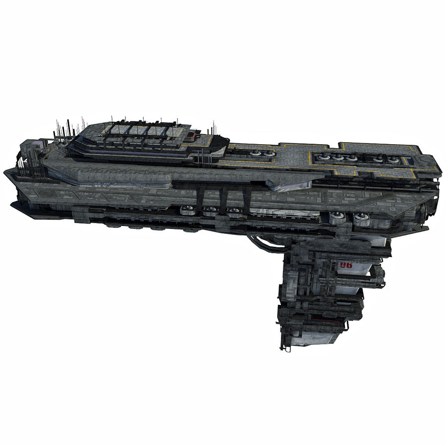 Sci Fi Spaceship Battleship Cruiser - Sci-Fi  Spacecraft 6 royalty-free 3d model - Preview no. 7