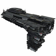 Sci Fi Spaceship Battleship Cruiser - Sci-Fi  Spacecraft 6 3d model