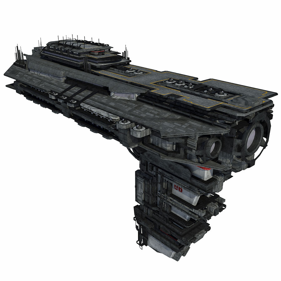 Sci Fi Spaceship Battleship Cruiser - Sci-Fi  Spacecraft 6 royalty-free 3d model - Preview no. 1