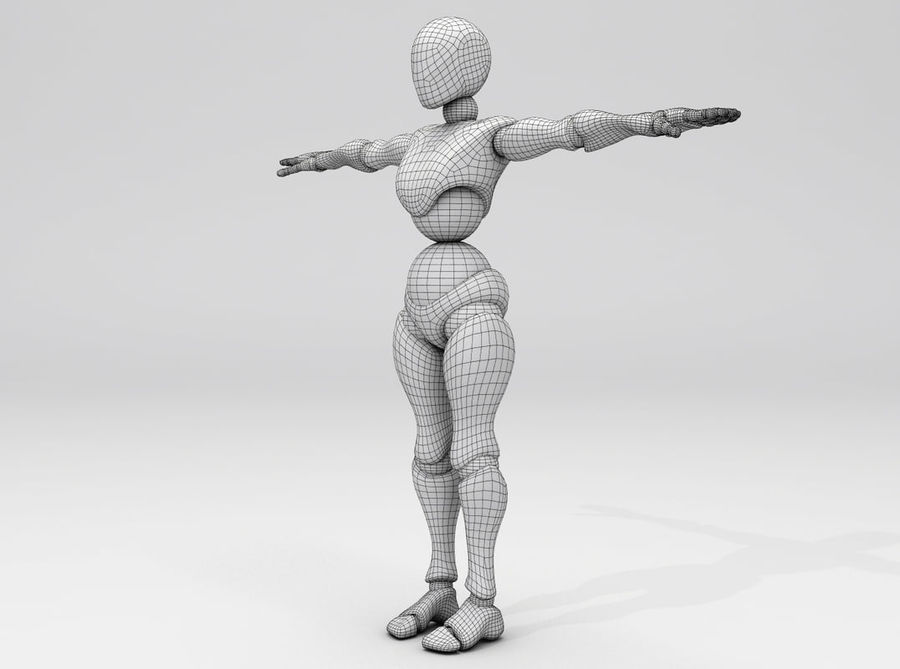 Animated Dancing Robot royalty-free 3d model - Preview no. 12