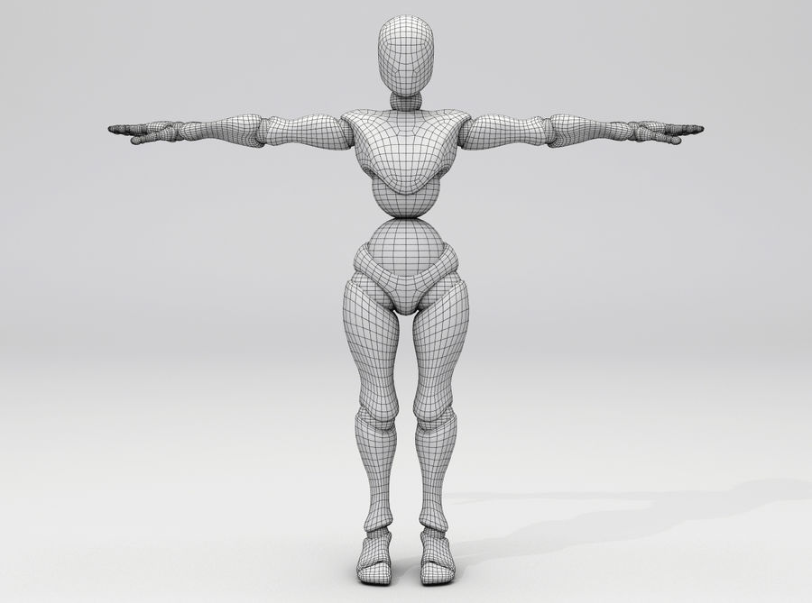 Animated Dancing Robot royalty-free 3d model - Preview no. 5